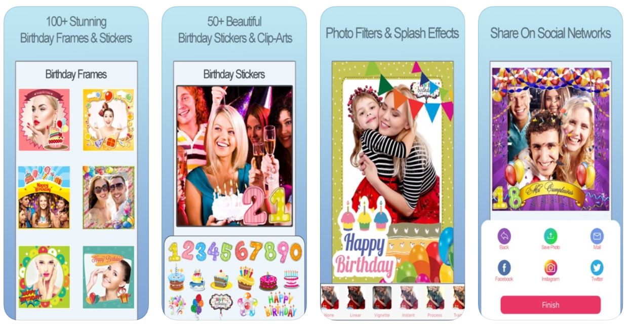 happy birthday photo frame fx screen