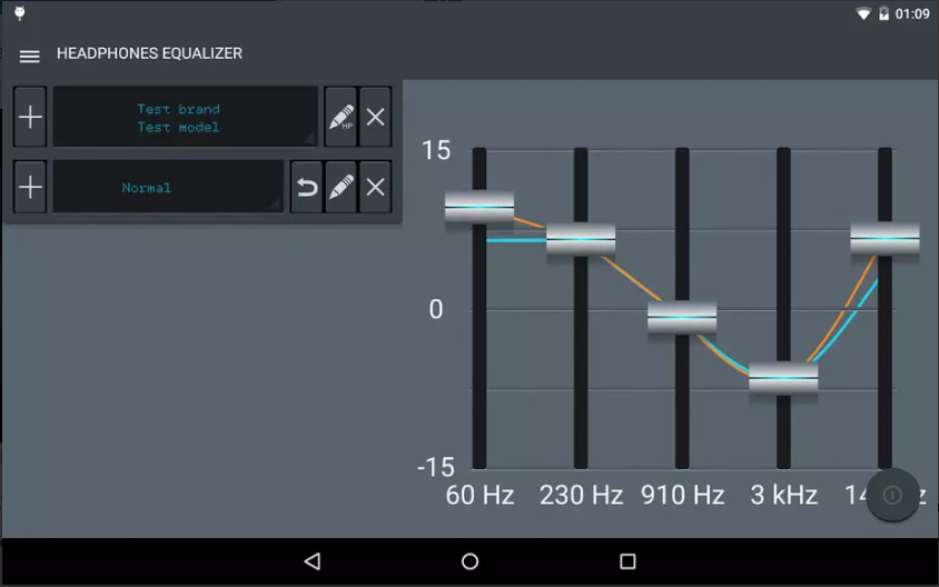 Headphones Equalizer app screenshot