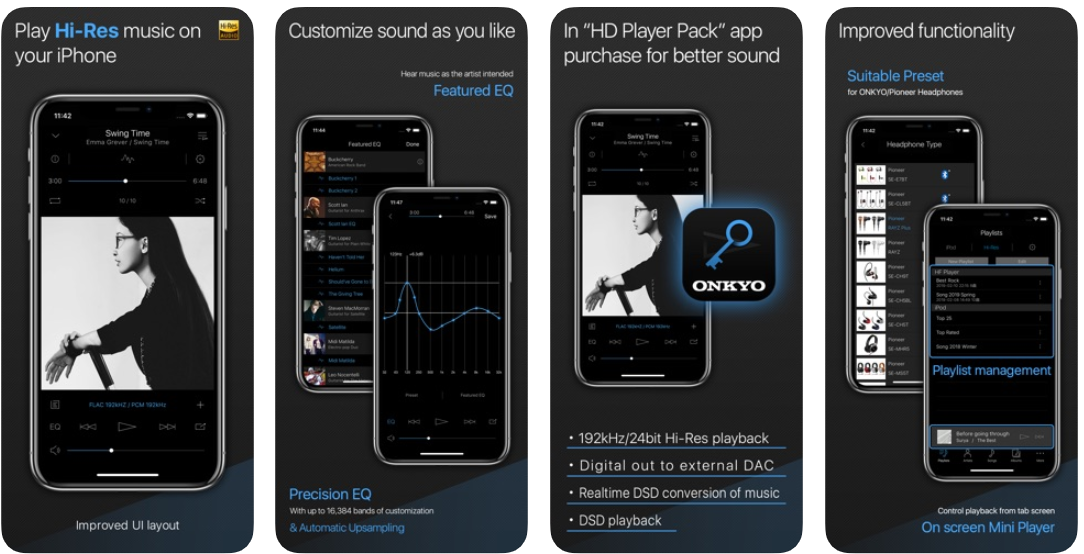 Onkyo HF Player app screenshot
