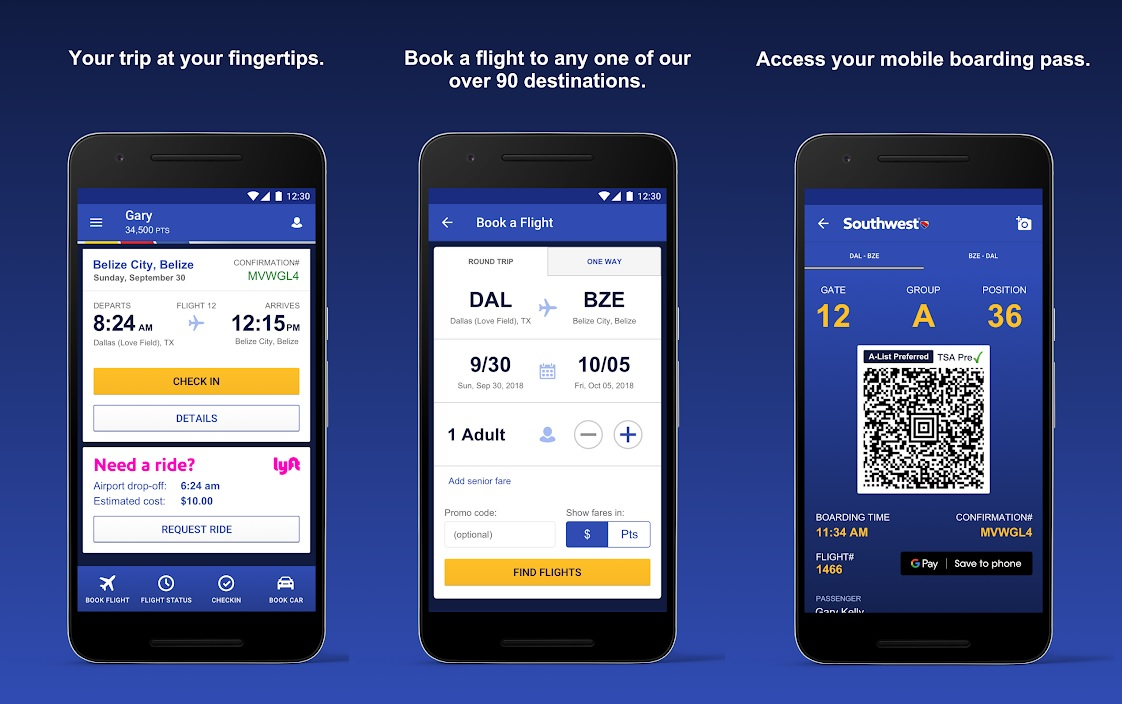 Southwest App screenshot