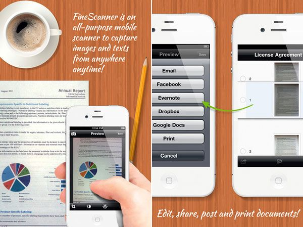 Easy scanning of books and documents with the FineScanner app