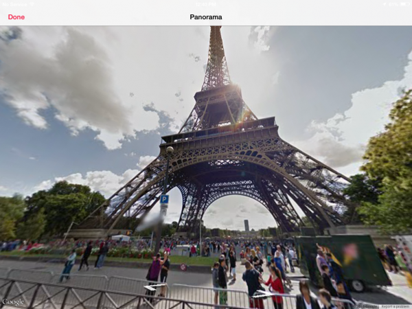 Eiffel Tower in panorama view