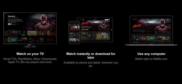 Netflix on different devices