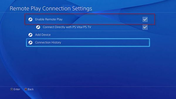 PS4 Remote Play Settings